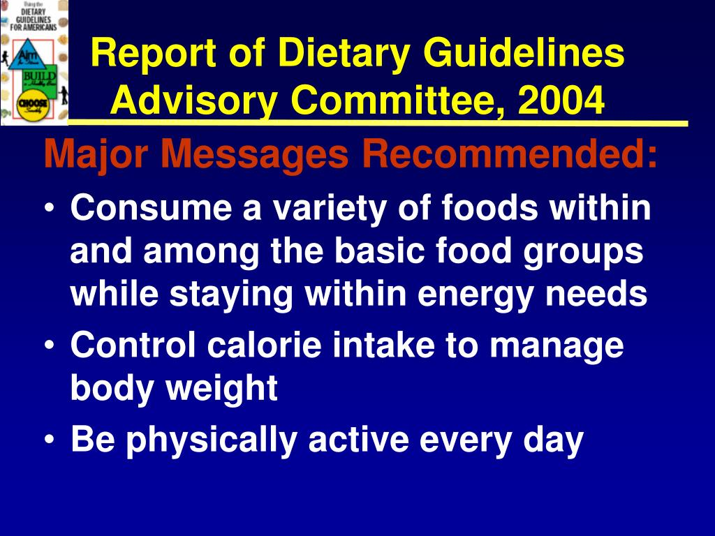 Report of Dietary Guidelines