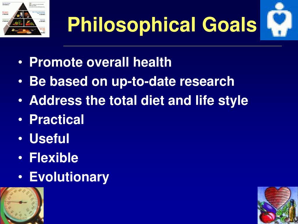 Philosophical Goals