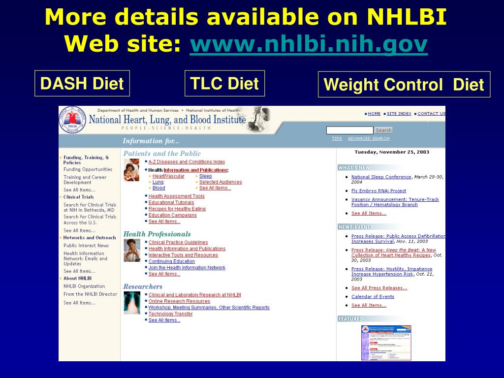 More details available on NHLBI Web site: