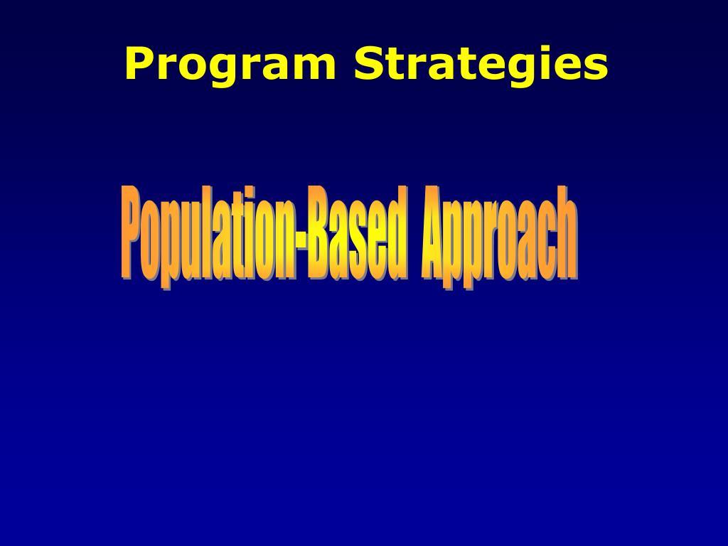 Program Strategies