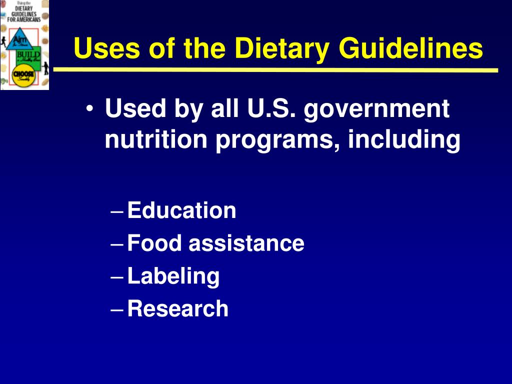 Uses of the Dietary Guidelines