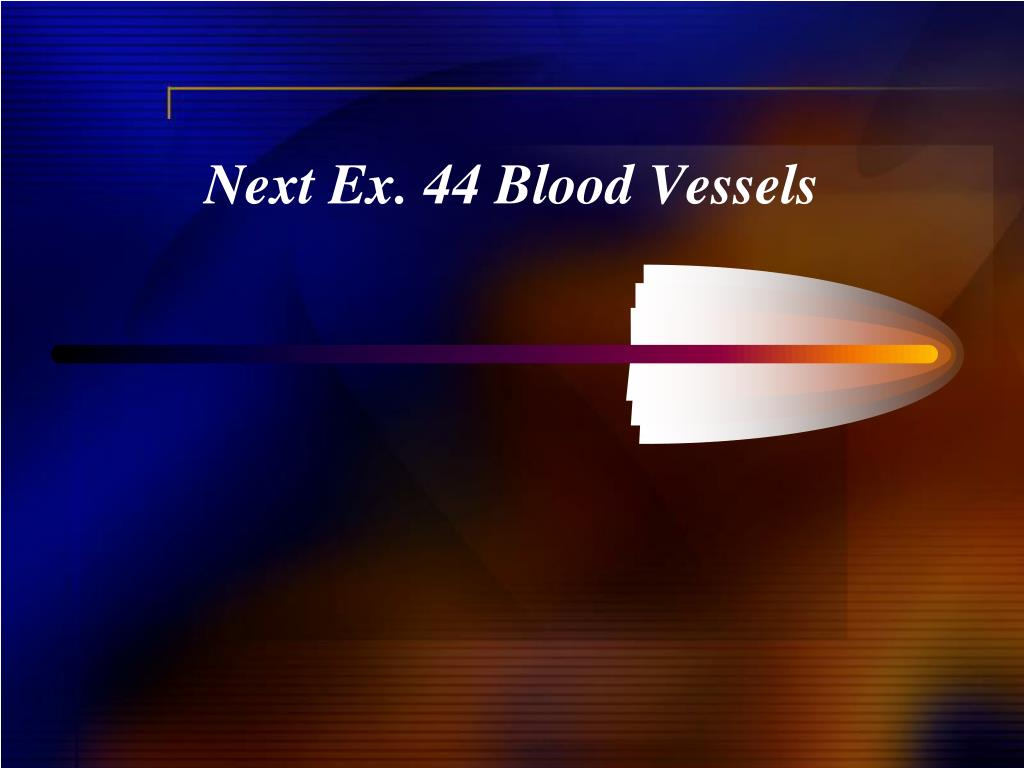 Next Ex. 44 Blood Vessels