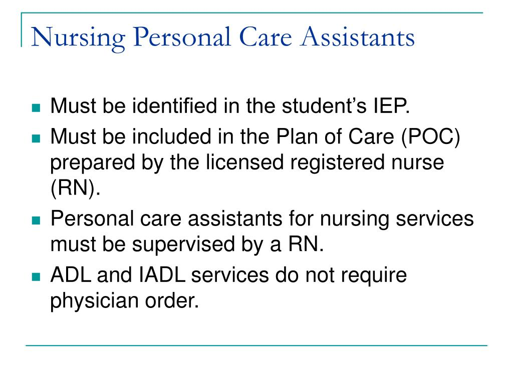 Nursing Personal Care Assistants