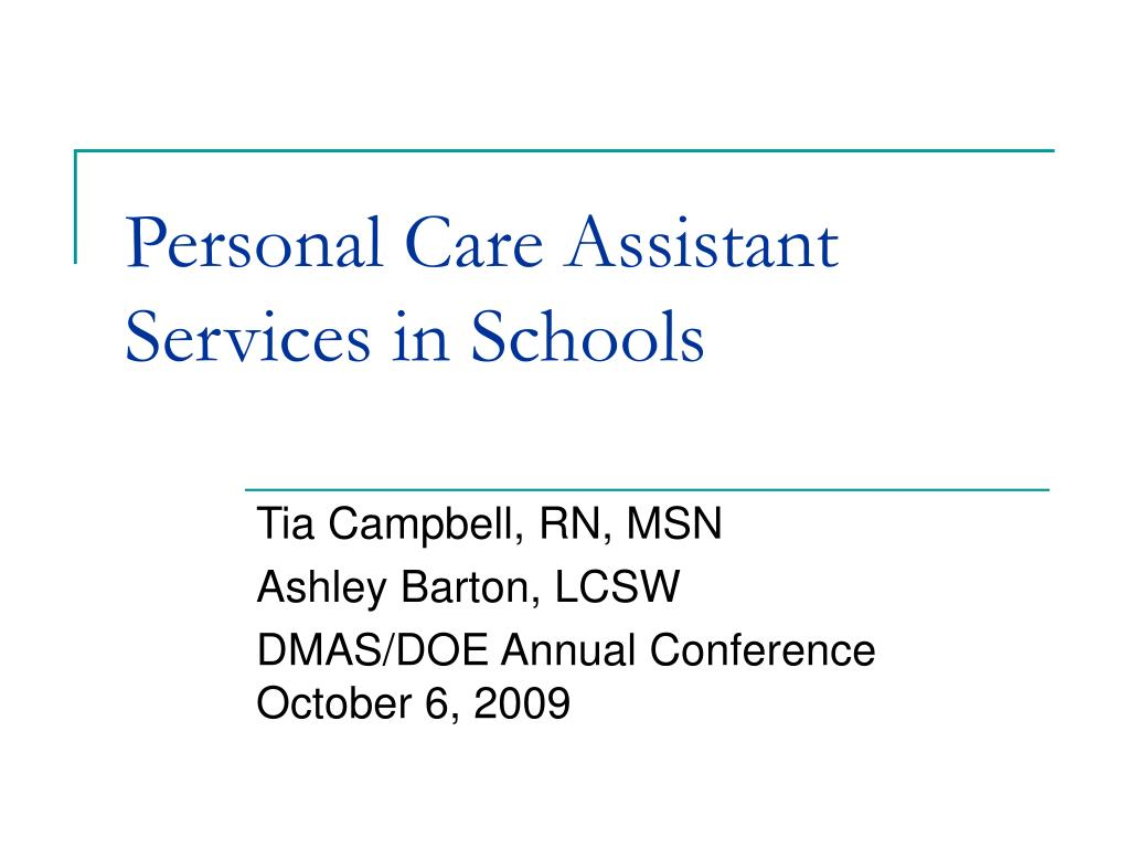 Personal Care Assistant Services in Schools