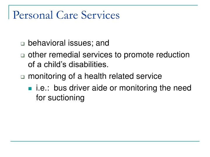 Personal care services3