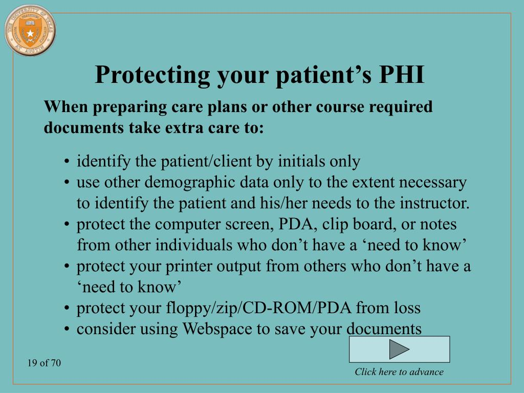 Protecting your patient's PHI