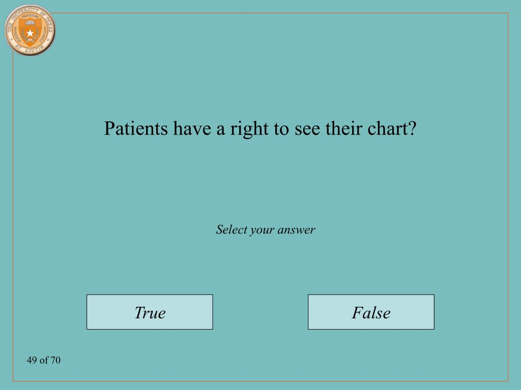 Patients have a right to see their chart?