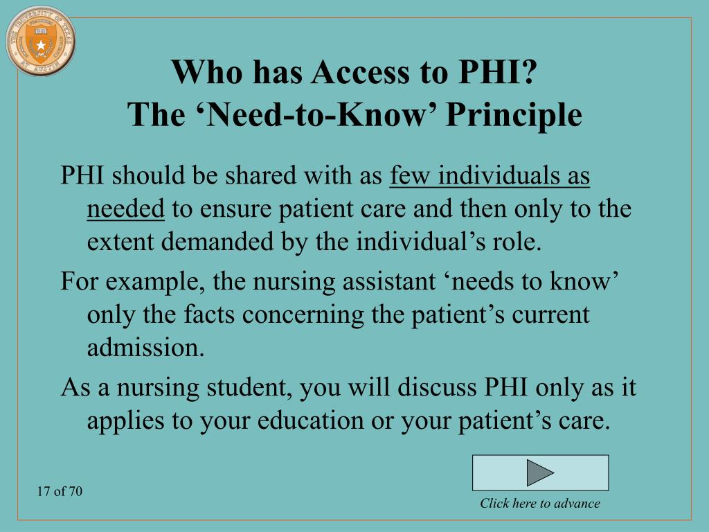 Who has Access to PHI?