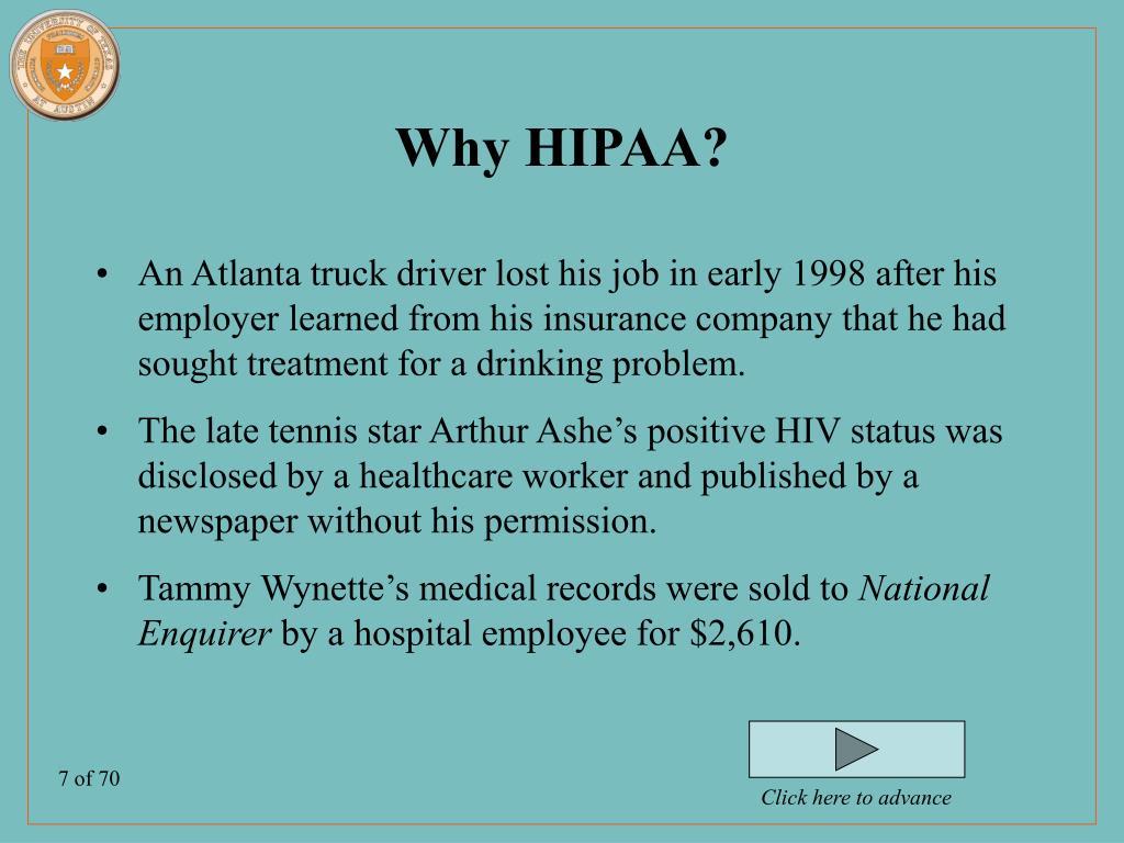 Why HIPAA?