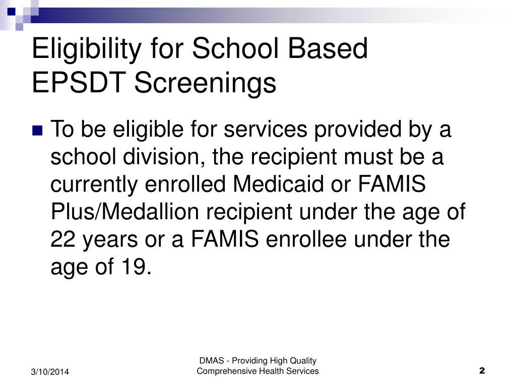 Eligibility for School Based