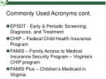 commonly used acronyms cont