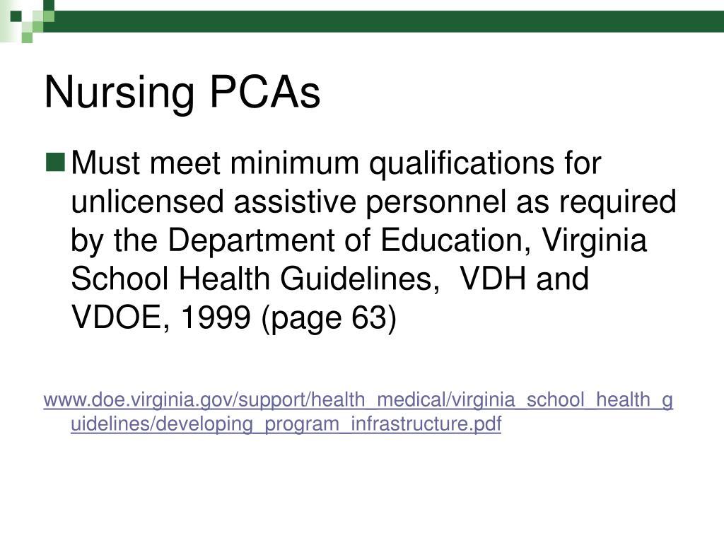 Nursing PCAs