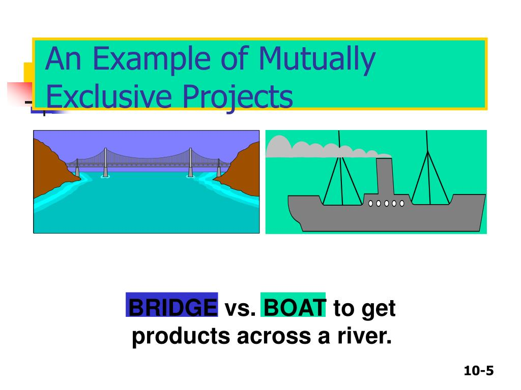 An Example of Mutually Exclusive Projects