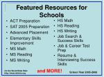 featured resources for schools