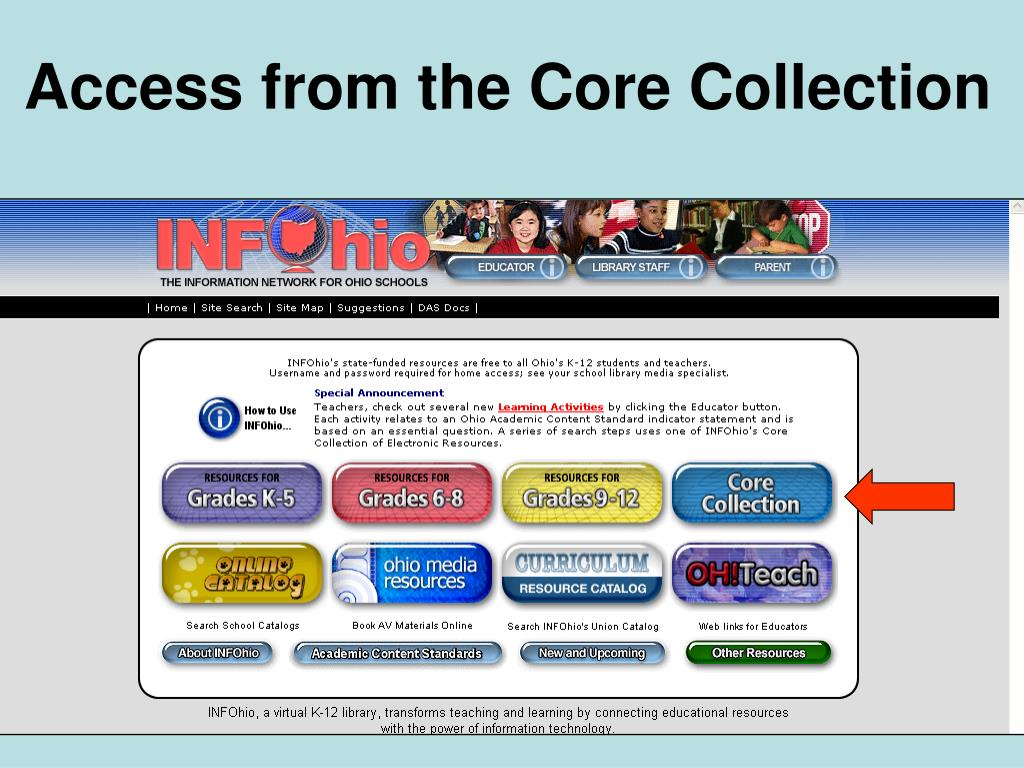 Access from the Core Collection