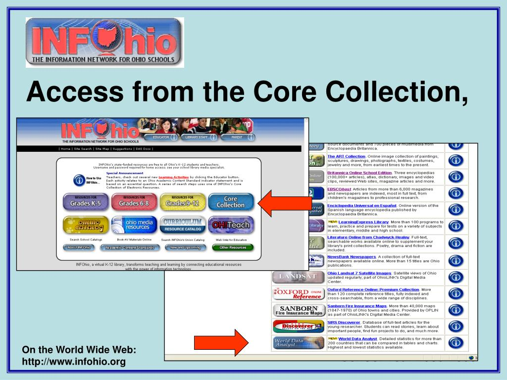 Access from the Core Collection,