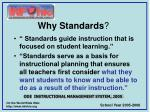 why standards