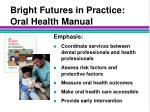 bright futures in practice oral health manual