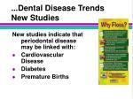 dental disease trends new studies