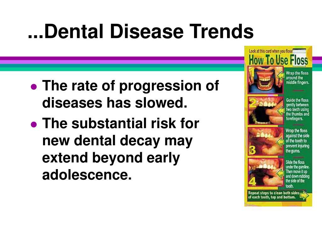 ...Dental Disease Trends