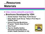 resources materials