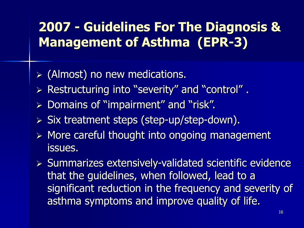 2007 - Guidelines For The Diagnosis & Management of Asthma  (EPR-3)
