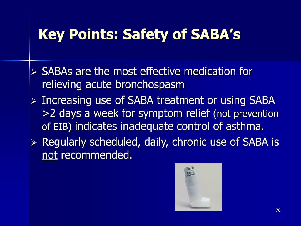 Key Points: Safety of SABA's