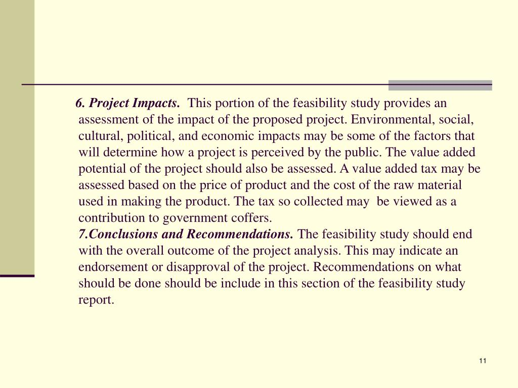 6. Project Impacts.