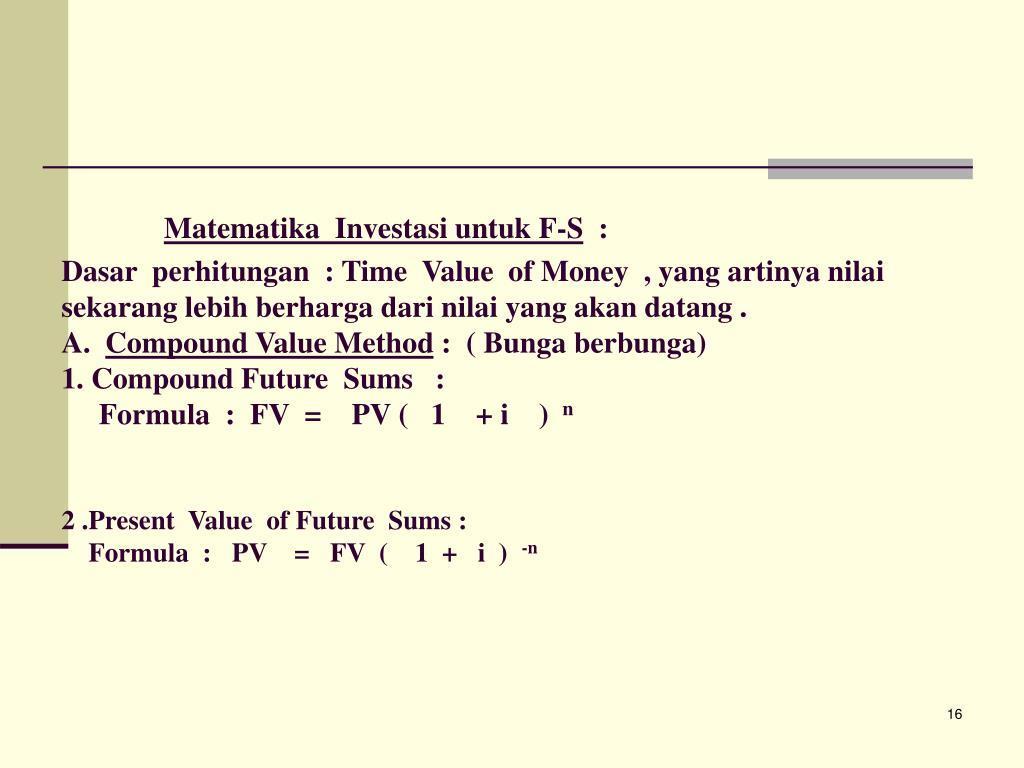 Matematika  Investasi untuk F-S