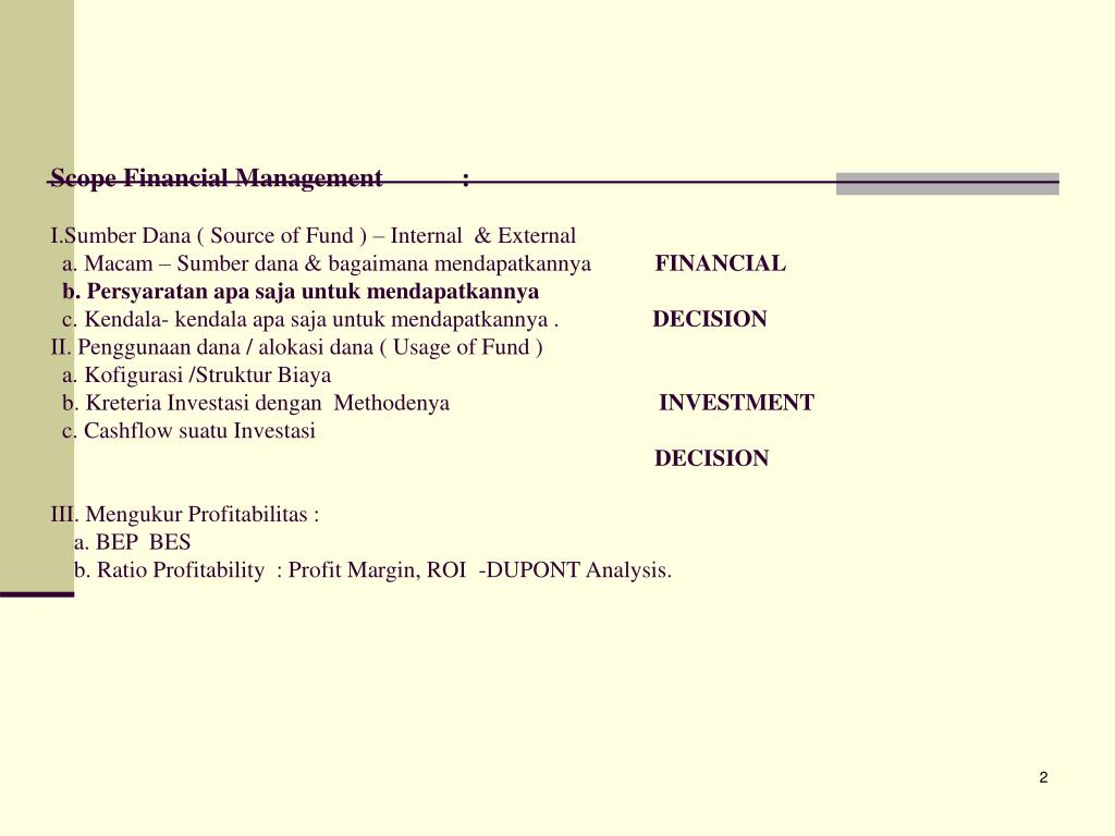 Scope Financial Management            :