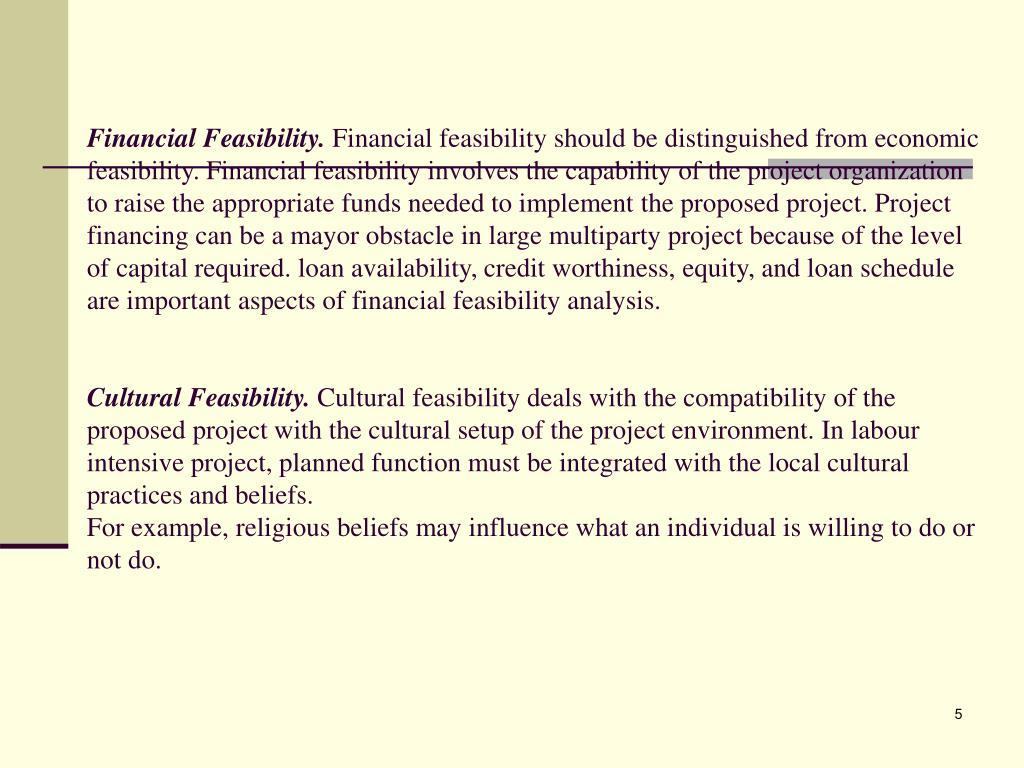 Financial Feasibility.