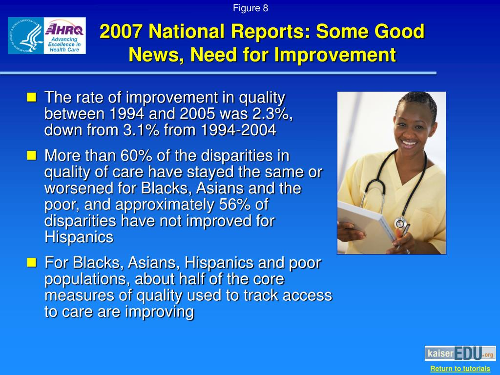 2007 National Reports: Some Good News, Need for Improvement