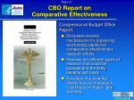 cbo report on comparative effectiveness