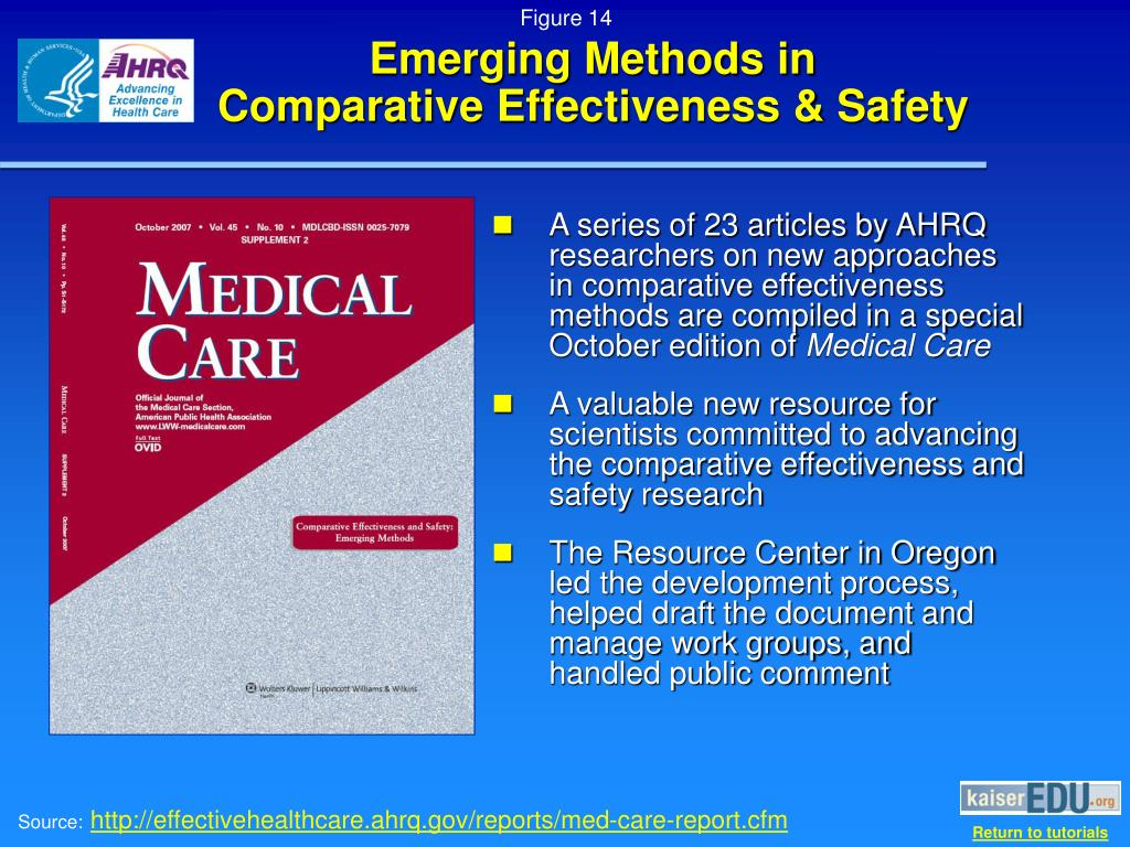 Emerging Methods in         Comparative Effectiveness & Safety