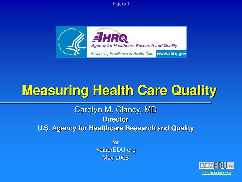 measuring health care quality