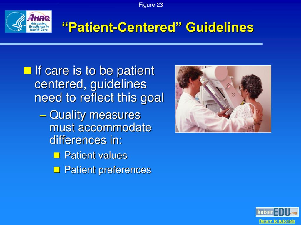 """Patient-Centered"" Guidelines"