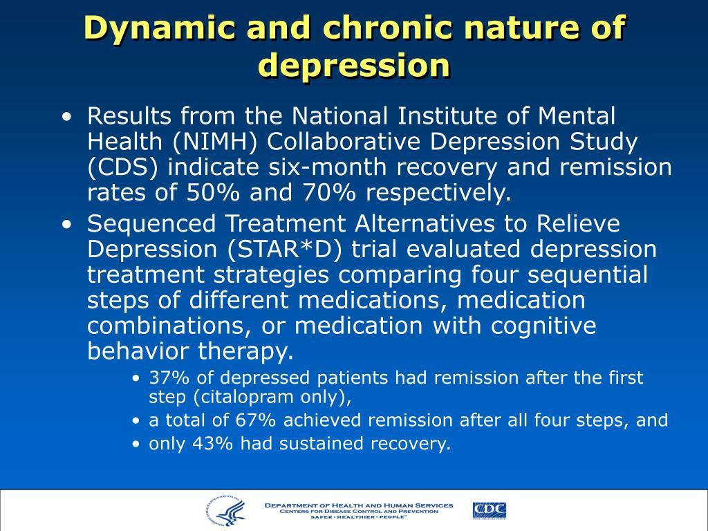 Dynamic and chronic nature of depression