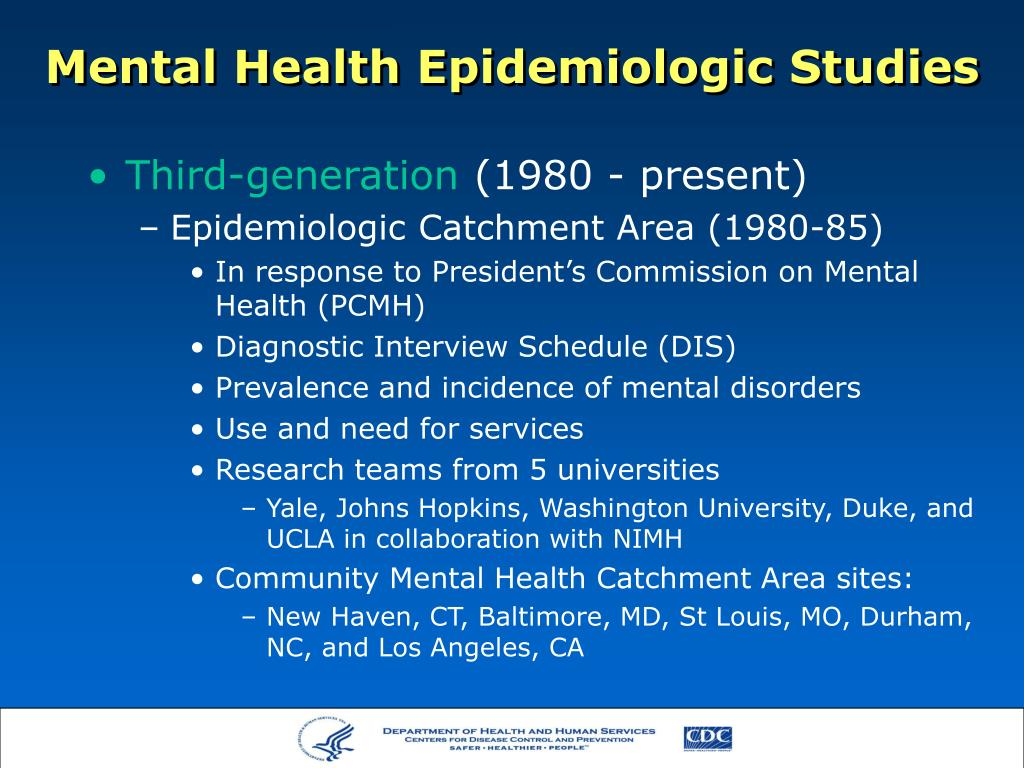 Mental Health Epidemiologic Studies