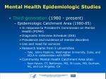 mental health epidemiologic studies5