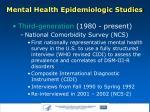mental health epidemiologic studies6