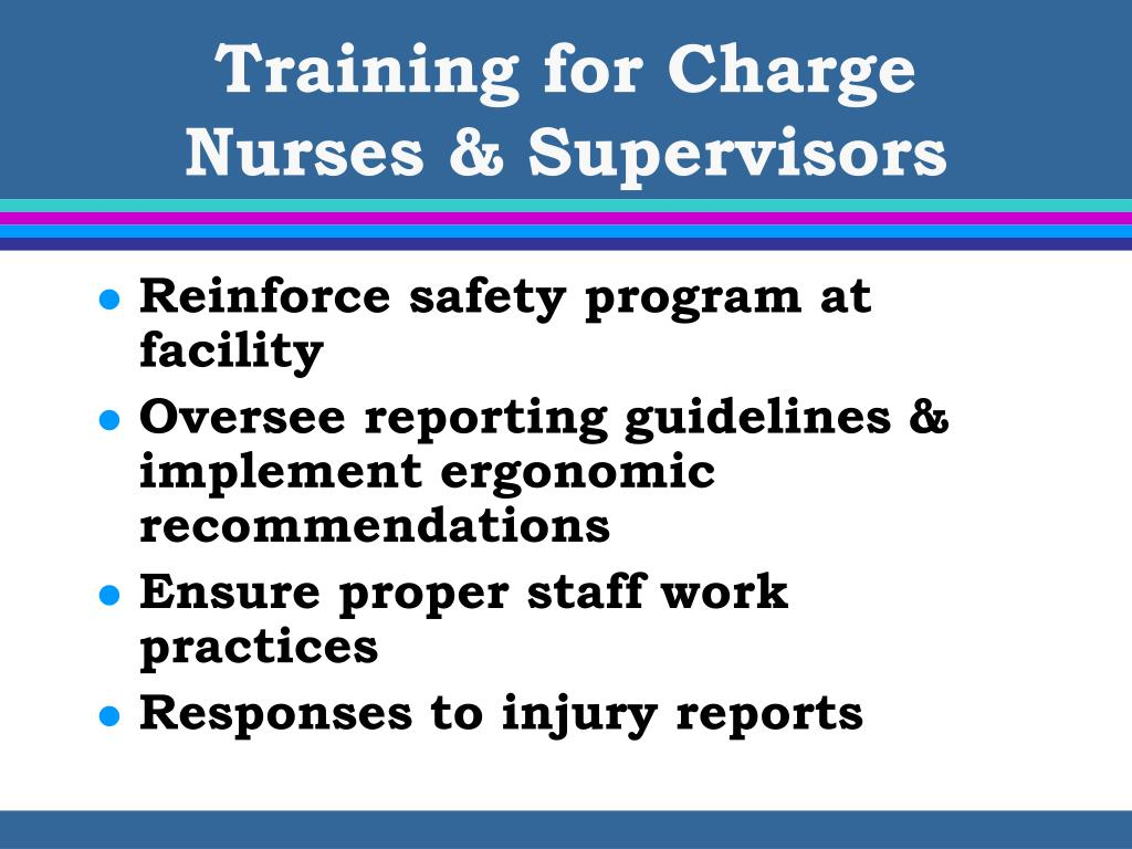 Training for Charge Nurses & Supervisors