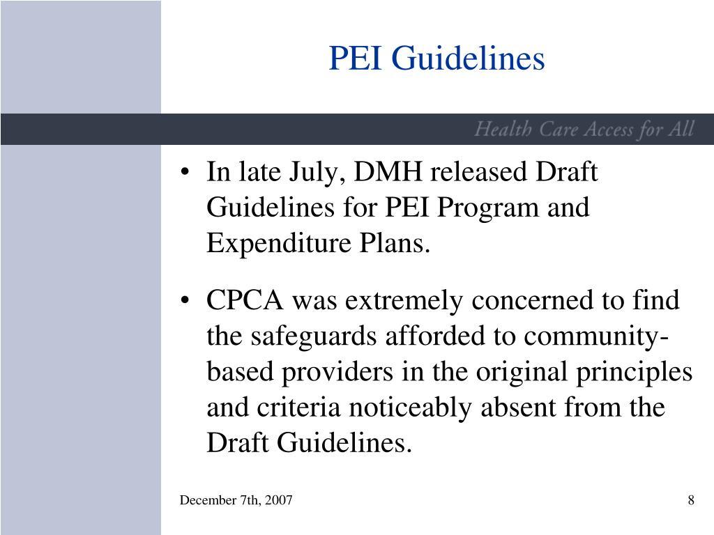 PEI Guidelines