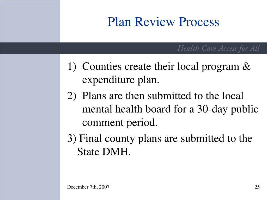 Plan Review Process