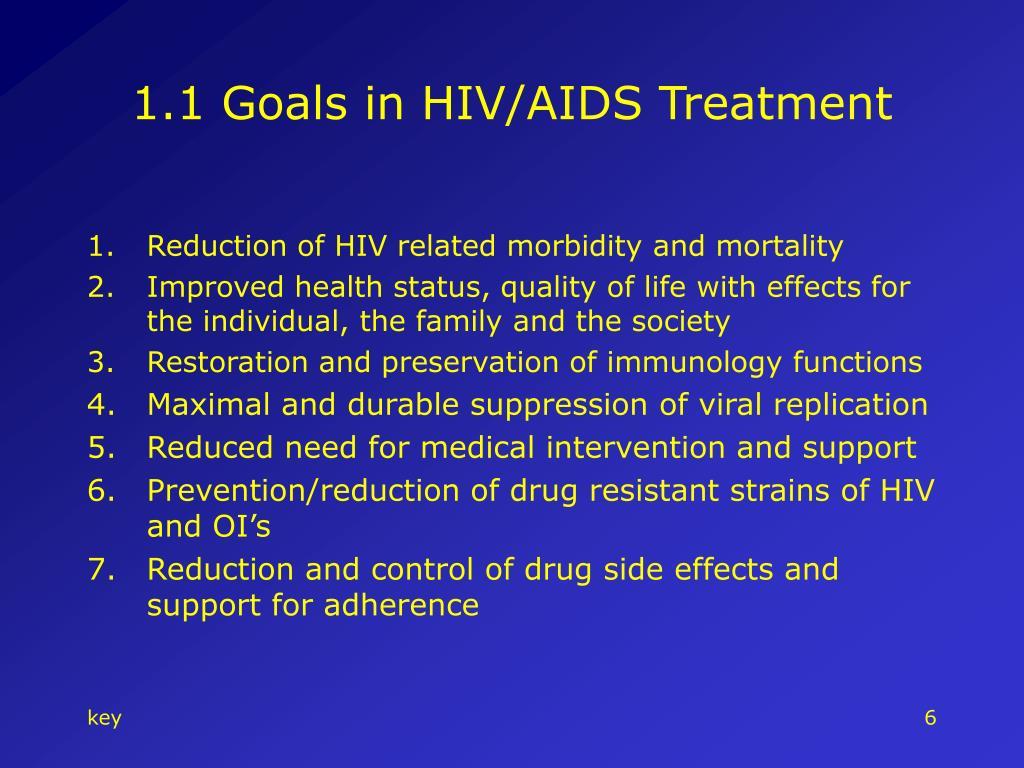 1.1 Goals in HIV/AIDS Treatment