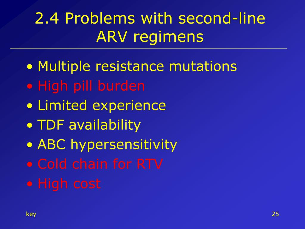 2.4 Problems with second-line ARV regimens