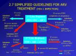 2 7 simplified guidelines for arv treatment hiv 1 infection