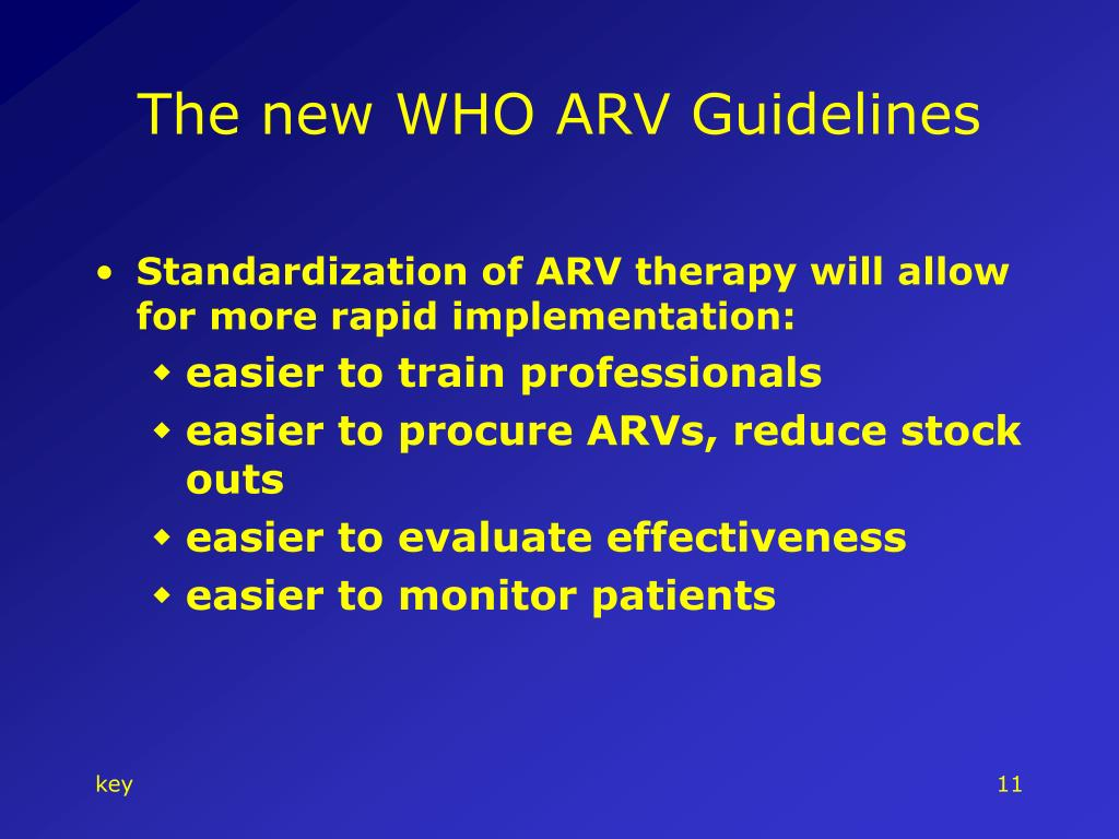 The new WHO ARV Guidelines
