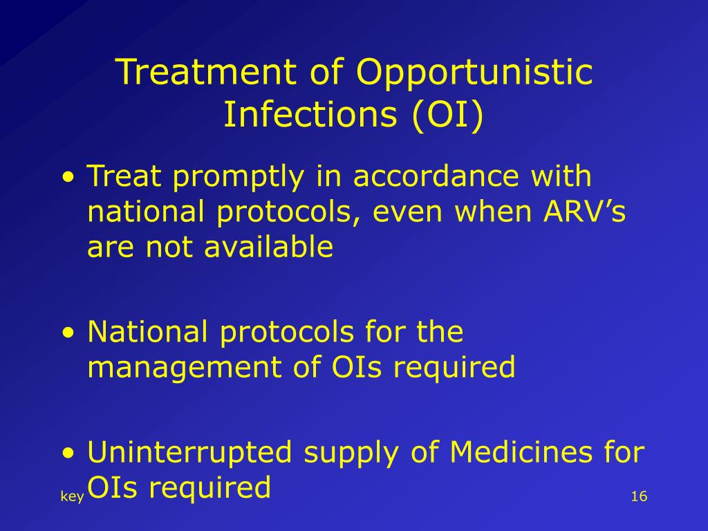 Treatment of Opportunistic Infections (OI)