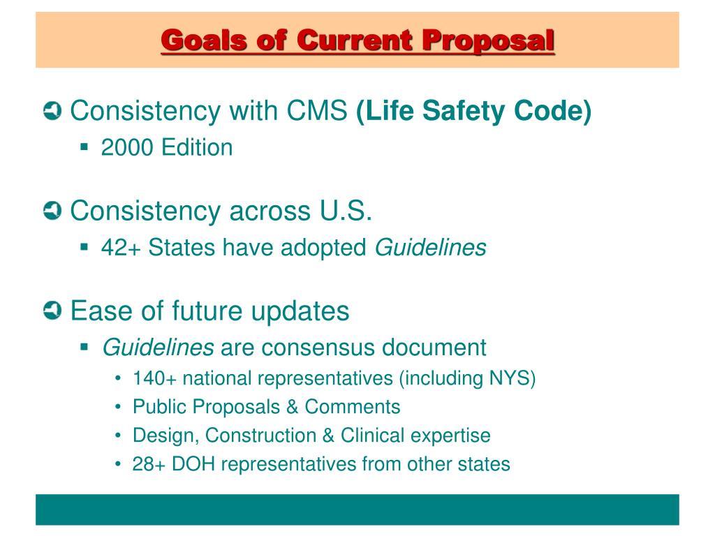Goals of Current Proposal
