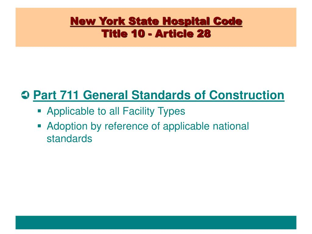 New York State Hospital Code